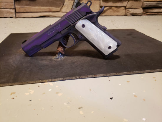 Browning Black Label .380 1911 Firearm with Purple Custom Finish